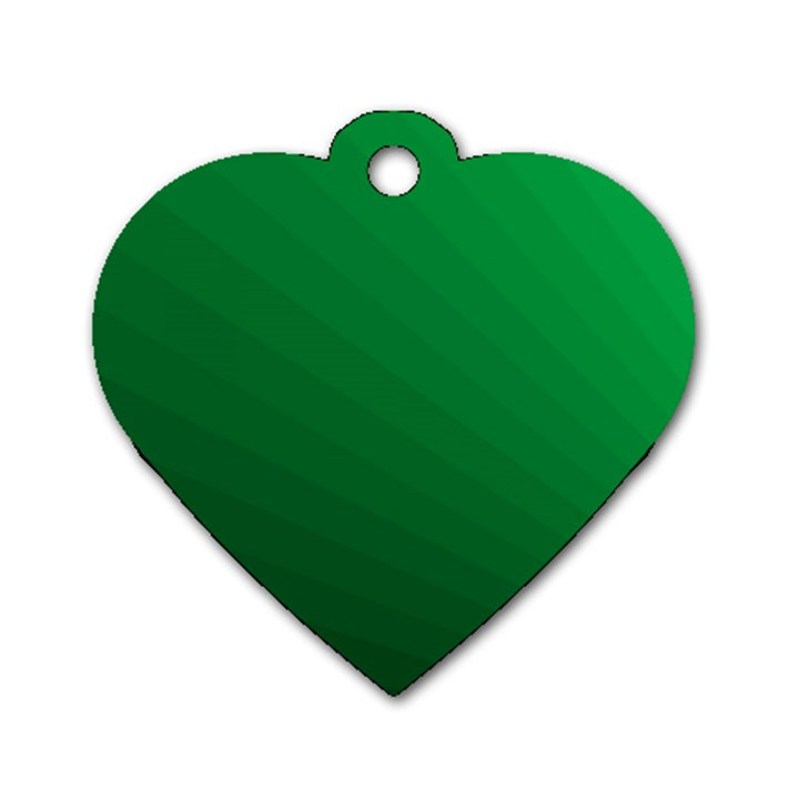 Green Beach Fractal Backdrop Background Dog Tag Heart (One Side)