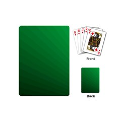 Green Beach Fractal Backdrop Background Playing Cards (mini)