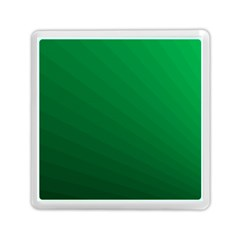 Green Beach Fractal Backdrop Background Memory Card Reader (square)