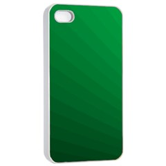 Green Beach Fractal Backdrop Background Apple iPhone 4/4s Seamless Case (White)