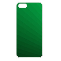 Green Beach Fractal Backdrop Background Apple iPhone 5 Seamless Case (White)