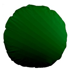 Green Beach Fractal Backdrop Background Large 18  Premium Round Cushions