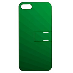 Green Beach Fractal Backdrop Background Apple iPhone 5 Hardshell Case with Stand
