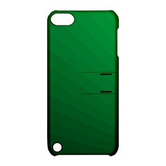 Green Beach Fractal Backdrop Background Apple iPod Touch 5 Hardshell Case with Stand