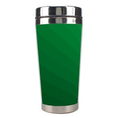 Green Beach Fractal Backdrop Background Stainless Steel Travel Tumblers