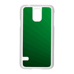 Green Beach Fractal Backdrop Background Samsung Galaxy S5 Case (White)