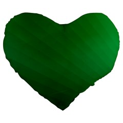 Green Beach Fractal Backdrop Background Large 19  Premium Flano Heart Shape Cushions