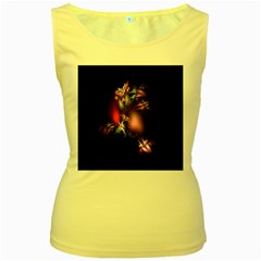 Colour Of Nature Fractal A Nice Fractal Coloured Garden Women s Yellow Tank Top