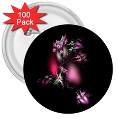 Colour Of Nature Fractal A Nice Fractal Coloured Garden 3  Buttons (100 pack)