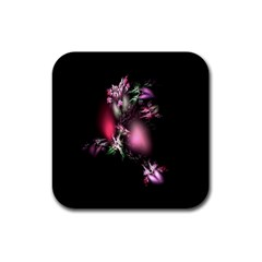 Colour Of Nature Fractal A Nice Fractal Coloured Garden Rubber Coaster (Square)