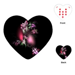 Colour Of Nature Fractal A Nice Fractal Coloured Garden Playing Cards (Heart)