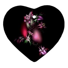 Colour Of Nature Fractal A Nice Fractal Coloured Garden Heart Ornament (two Sides)
