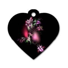 Colour Of Nature Fractal A Nice Fractal Coloured Garden Dog Tag Heart (Two Sides)