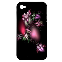 Colour Of Nature Fractal A Nice Fractal Coloured Garden Apple iPhone 4/4S Hardshell Case (PC+Silicone)