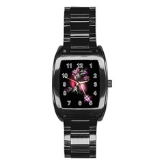 Colour Of Nature Fractal A Nice Fractal Coloured Garden Stainless Steel Barrel Watch
