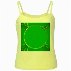 Green Circle Fractal Frame Yellow Spaghetti Tank