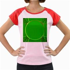 Green Circle Fractal Frame Women s Cap Sleeve T Shirt