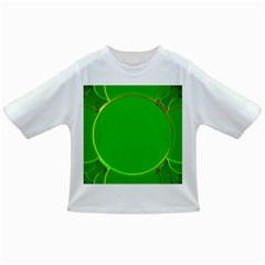 Green Circle Fractal Frame Infant/toddler T Shirts