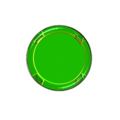 Green Circle Fractal Frame Hat Clip Ball Marker (4 Pack)
