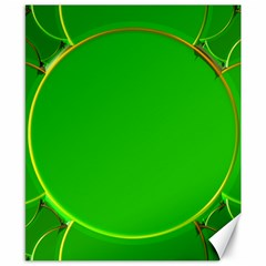 Green Circle Fractal Frame Canvas 8  X 10