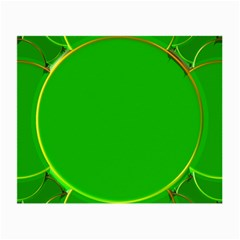 Green Circle Fractal Frame Small Glasses Cloth (2 Side)