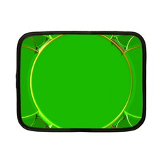 Green Circle Fractal Frame Netbook Case (small)