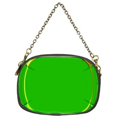 Green Circle Fractal Frame Chain Purses (two Sides)
