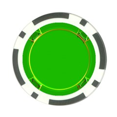 Green Circle Fractal Frame Poker Chip Card Guard (10 Pack)