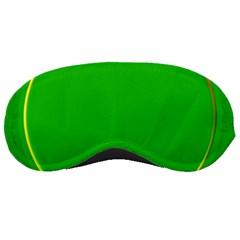 Green Circle Fractal Frame Sleeping Masks