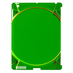 Green Circle Fractal Frame Apple iPad 3/4 Hardshell Case (Compatible with Smart Cover)
