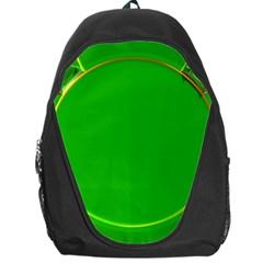 Green Circle Fractal Frame Backpack Bag