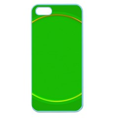 Green Circle Fractal Frame Apple Seamless iPhone 5 Case (Color)