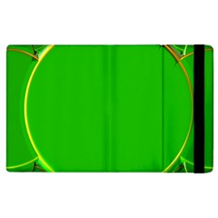 Green Circle Fractal Frame Apple Ipad 2 Flip Case