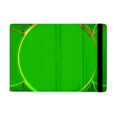 Green Circle Fractal Frame Apple iPad Mini Flip Case
