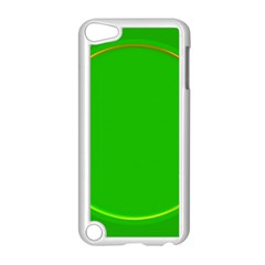 Green Circle Fractal Frame Apple iPod Touch 5 Case (White)