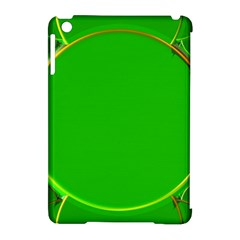 Green Circle Fractal Frame Apple Ipad Mini Hardshell Case (compatible With Smart Cover)