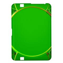 Green Circle Fractal Frame Kindle Fire HD 8.9