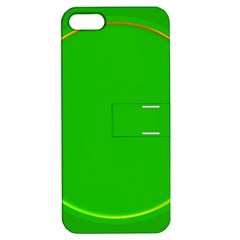 Green Circle Fractal Frame Apple iPhone 5 Hardshell Case with Stand