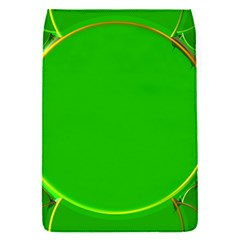 Green Circle Fractal Frame Flap Covers (S)