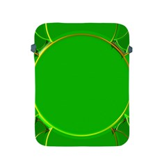 Green Circle Fractal Frame Apple iPad 2/3/4 Protective Soft Cases