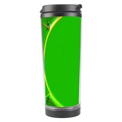 Green Circle Fractal Frame Travel Tumbler