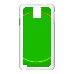 Green Circle Fractal Frame Samsung Galaxy Note 3 N9005 Case (White)