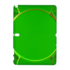 Green Circle Fractal Frame Galaxy Note 1