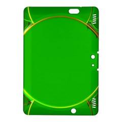 Green Circle Fractal Frame Kindle Fire HDX 8.9  Hardshell Case