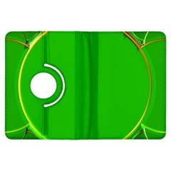 Green Circle Fractal Frame Kindle Fire HDX Flip 360 Case