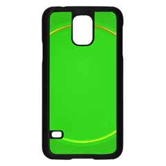 Green Circle Fractal Frame Samsung Galaxy S5 Case (Black)