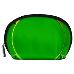 Green Circle Fractal Frame Accessory Pouches (Large)
