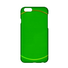 Green Circle Fractal Frame Apple iPhone 6/6S Hardshell Case