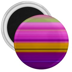 Stripes Colorful Background Colorful Pink Red Purple Green Yellow Striped Wallpaper 3  Magnets