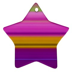 Stripes Colorful Background Colorful Pink Red Purple Green Yellow Striped Wallpaper Ornament (star)